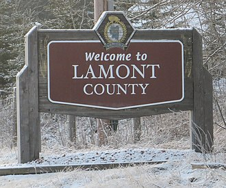 Lamont County - Boundary sign