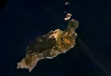 Fotografía de satélite de Lanzarote