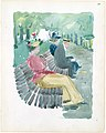 Large Boston Public Garden Sketchbook- A man and two women sitting in the park MET DT3401.jpg