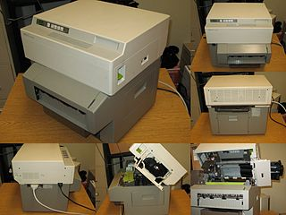HP LaserJet Laser printer produced by Hewlett-Packard