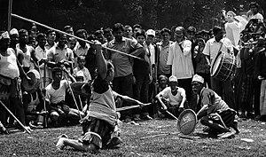 Lathi khela - Lathi khela competition in Bangladesh
