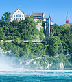 Laufen Castle in Switzerland, near the Rhine Falls.jpg