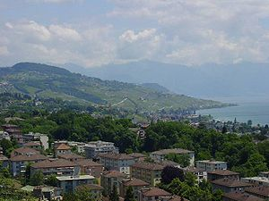 Pully - Pully, as seen from Lausanne