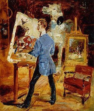 René Princeteau - portrait by Henri de Toulouse-Lautrec, 1881