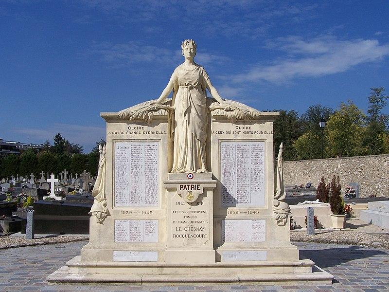 Monument aux morts du Chesnay et de Rocquencourt au Chesnay (Yvelines, France)