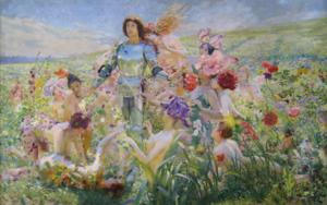 Georges Rochegrosse - Le Chevalier aux Fleurs (The Knight of Flowers)