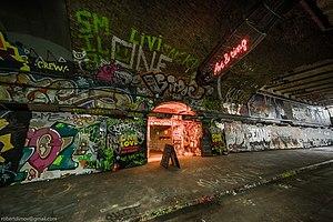 Leake Street - The Leake Street tunnel in 2017