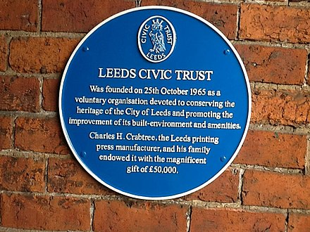 Leeds Civic Trust Blue Plaque Leeds Civic Trust Blue Plaque.jpg