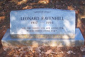 Leonard Ravenhill - Gravesite at Garden Valley Cemetery in Garden Valley, Texas