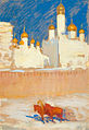 Leonid Pasternak - The Moscow Kremlin in the March Sun, 1917.jpg