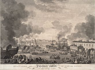 Siege of Toulon - The British evacuation of Toulon in December 1793