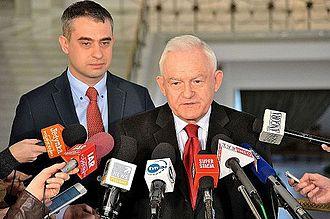 Leszek Miller - Leszek Miller interviewed in the Sejm (2014)
