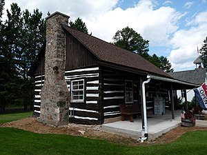 National Register of Historic Places listings in Forest County, Wisconsin - Image: Library in Wabeno Wisconsin