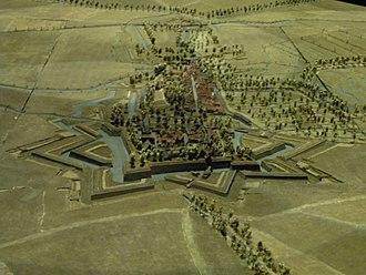 Siege of Bouchain (1712) - Plan-relief of the Bouchain fort.