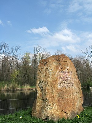 Second Battle of Zurich - Memorial on Limmat river in Dietikon