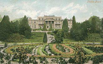 Linton Park - Formal gardens at Linton Park, 1906