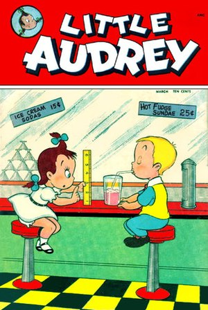 Little Audrey - Little Audrey and Patches, as depicted in the St. John Publications series (1948-1952).
