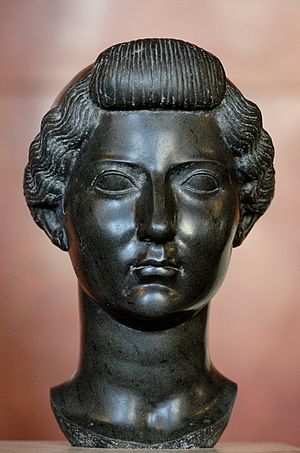 Livia - Sculpture of Livia in Egyptian basalt, c. 31 BC, Louvre