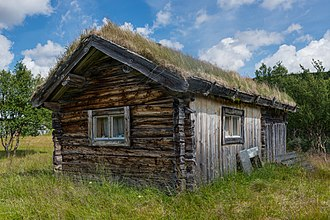 Green roof - Traditional sod roof in Ljungris, Sweden