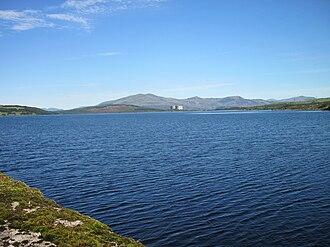 Llyn Trawsfynydd - Looking north to the power station