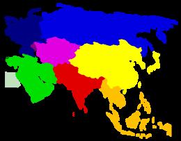 Cartina Dell Asia Orientale.Asia Orientale Wikipedia