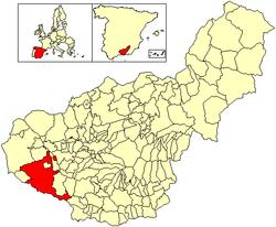 Situación de Alhama de Granada