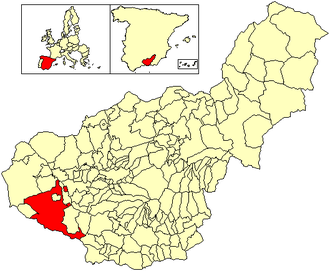 Alhama de Granada - Image: Location Alhama de Granada (municipality)