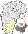 Location of Ganzhou within Jiangxi.png