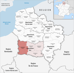 Arrondissement of Beauvais - Image: Locator map of Arrondissement Beauvais
