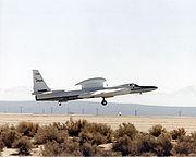 Lockheed ER-2 709 taking off from Dryden