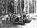 Loggers with Fordson tractor, Simpson Logging Company, probably Mason County, ca 1923 (KINSEY 1703).jpeg