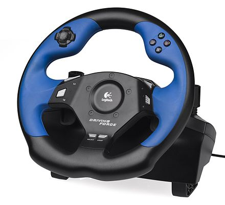 A Logitech steering wheel for the PlayStation 3 Logitech-Driving-Force-PS3.jpg