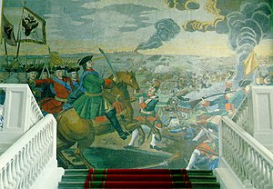 Battle of Poltava - The most grandiose of Mikhail Lomonosov's mosaics depicts the Battle of Poltava
