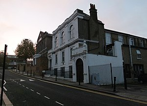 Gurdwara Sahib Woolwich - Annex building from the south east