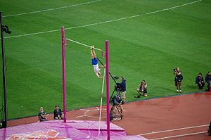 Athletics at the 2012 Summer Olympics – Men's pole vault - Image: London 2012 Renaud Lavillenie