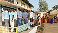 Long queue in front of a polling booth of Rajnand Gaon Assembly constituency, during the first phase of polling for Assembly Election in Chhattisgarh on November 11, 2013 (1).jpg