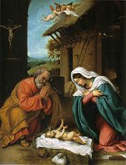 Lorenzo Lotto: Kristovo roðenje, 1523.