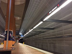 North Hollywood station - Platform View of the Red Line