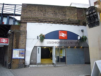 Loughborough Junction railway station - The station entrance on 2 January 2007