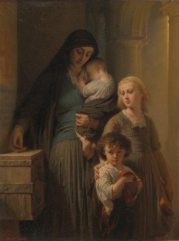 Louis-Edouard Dubufe - Het penningske der weduwe - SA 212 - Amsterdam Museum.jpg