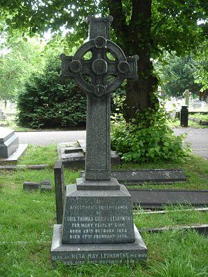 Louis T. Leonowens - Funerary monument, Brompton Cemetery, London