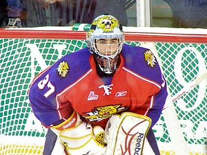 Louis Domingue - Domingue with the Moncton Wildcats in 2009.