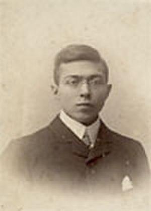 Louis Grondijs - Louis Grondijs, student at Utrecht University in 1901