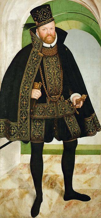 Augustus, Elector of Saxony - August von Sachsen (painting by Lucas Cranach the Younger, 1572, Stadt- und Bergbaumuseum in Freiberg)