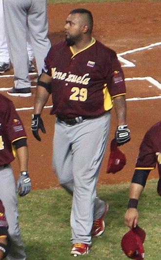 Luis Jiménez (first baseman) - Jiménez with the Venezuela national team in 2015 WBSC Premier12 warm-up game