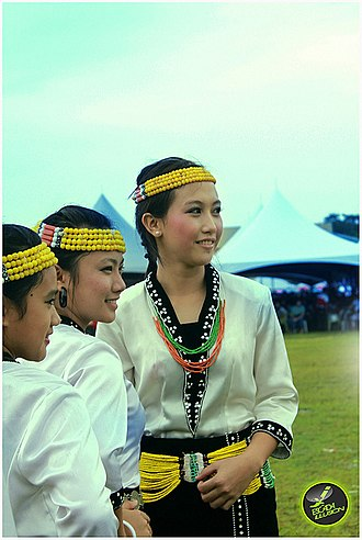 Lun Bawang - Lundayeh women from Sabah, Malaysia in traditional attire.