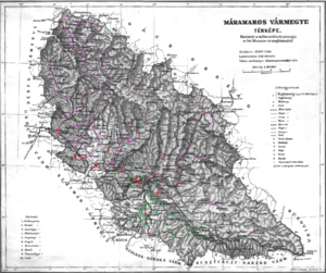 Máramaros County - Ethnic map of the county with data of the 1910 census (see the key in the description).