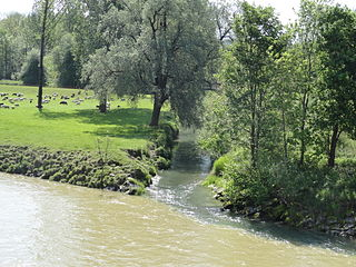 Murg (Thur) Swiss river, a tributary of the Thur