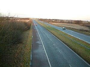 M58 motorway - M58 near Melling Mount, Sefton.