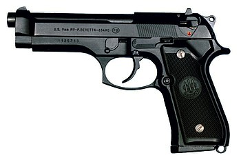 Beretta 92FS (current US Military/NATO 9 mm si...